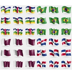 Central African Republic Brazil Qatar Dominican vector