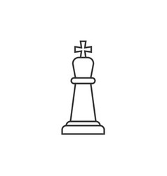 chess king outline icon vector image