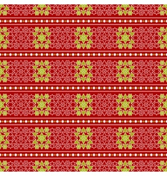 Christmas seamless wrapping paper - stars flowers vector