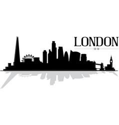 City london skyline silhouette vector