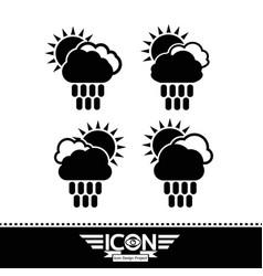cloud rain sun icon vector image