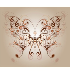 Colorful butterfly with floral ornaments vector
