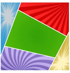 comic book colorful composition vector image