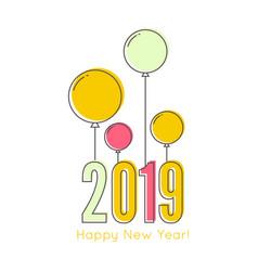 creative happy new year 2019 vector image