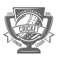 cricket badge championship vector image