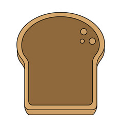 Delicious bread slice icon imag vector