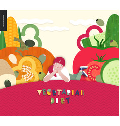 Diet food composition vector