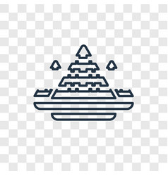 egypt concept linear icon isolated on transparent vector image