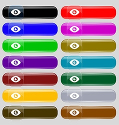 Eye Publish content icon sign Set from fourteen vector