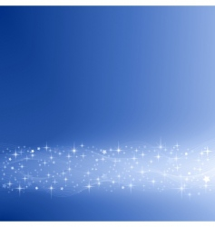 festive blue background with stars vector image vector image