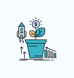 finance financial growth money profit flat icon vector image