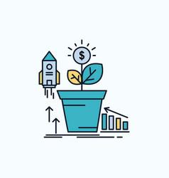 finance financial growth money profit flat icon vector image
