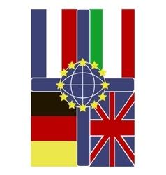 Four flags vector