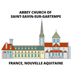 france nouvelle aquitaine - abbey church of saint vector image