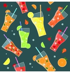 Fruit Lemonades Background Pattern vector image