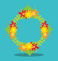 Gobble give thanks wreath 05 vector