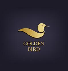 golden bird logo abstract luxury icon vector image