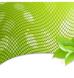 Green Eco Background With Leaves vector image