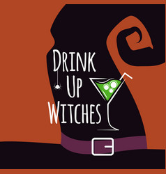 halloween cocktail party design background vector image