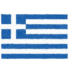 Hand drawn of flag of Greece vector