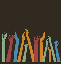 hands up colors vector image