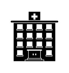 Hospital building of medical care design vector