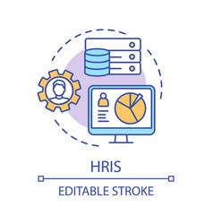 Hris concept icon hr software idea thin line vector