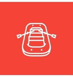 Inflatable boat line icon vector image
