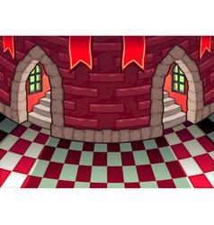 Inside castle vector