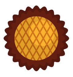 jam biscuit icon flat style vector image