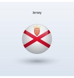 Jersey round flag vector