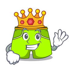 King fashion short pants isolated on mascot vector