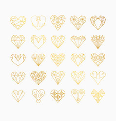 Line icons heart vector