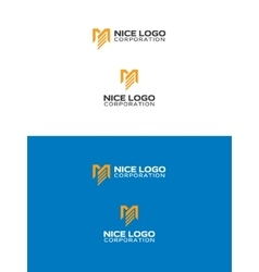 M and E letters logo vector image
