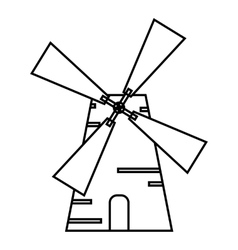 Mill icon outline style vector image
