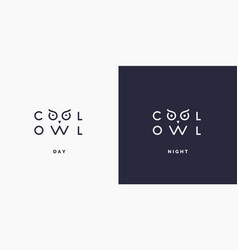 Minimalistic and stylish logo owl modern vector