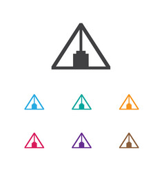 of camping symbol on triangle vector image