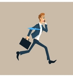Office Worker Running Late vector