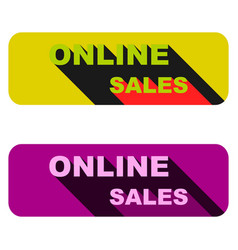 Online sales a set of banners of two pieces vector