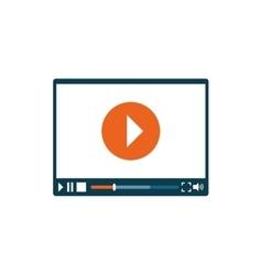 Online video media vector image