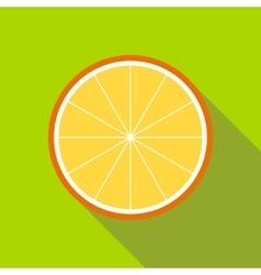 Orange slice icon flat style vector