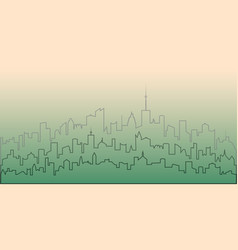 Outline of the city vector