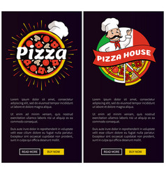 pizza house collection web vector image
