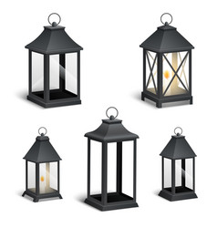 realistic vintage lantern on a white vector image