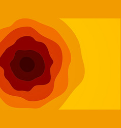 red orange yellow waves pattern vector image