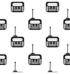 Retro Old Radio Icon Seamless Pattern vector image