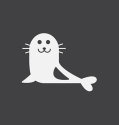 Seal animal icon cartoon of seal animal icon vector