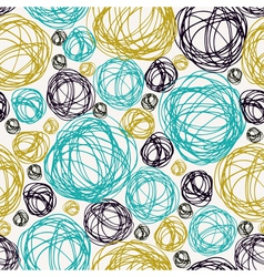 Seamless doodle summer background vector