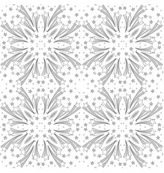seamless doodled pattern vector image