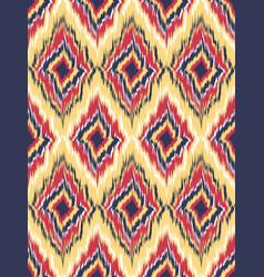 seamless pattern tribal art ikat ogee vector image